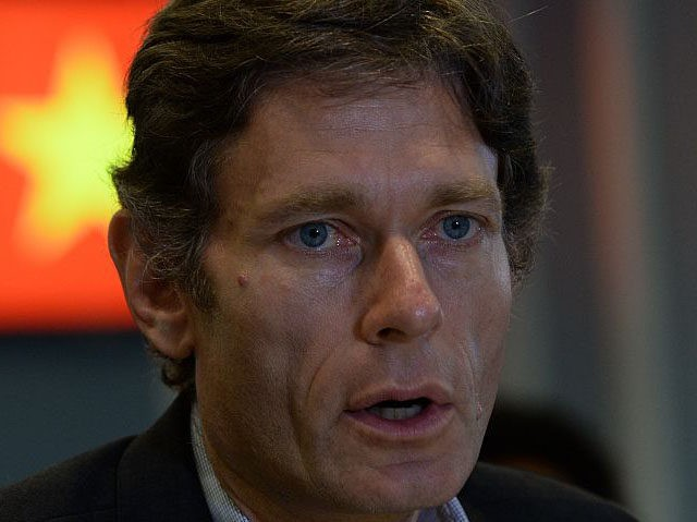 Assistant Secretary Tom Malinowski, US Bureau of Democracy, Human Rights and Labor talks with foreign and local reporters during a press meeting on the annual Human Rights Dialog with the Government of Vietnam in Hanoi on May 11, 2015. Malinowski led an US mission for talks with Hanoi regime on …