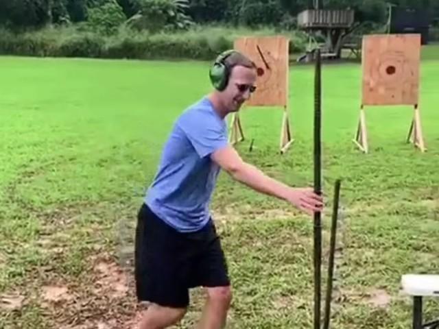 Mark Zuckerberg throwing spears