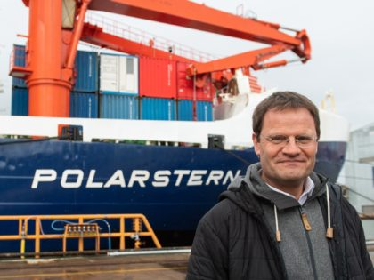 BREMERHAVEN, GERMANY - OCTOBER 12: MOSAIC expedition leader Markus Rex at the Polarstern research vessel after it returns from a year-long drift across the Arctic on October 12, 2020 in Bremerhaven, Germany. The Polarstern, a ship of the Alfred Wegener Institute for Polar and Marine Research, became a Multidisciplinary drifting …