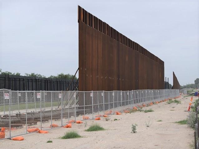 Partially build border wall in Del Rio, Texas. (Photo: Bob Price/Breitbart Texas)