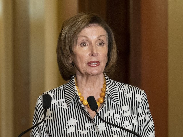 House Speaker Nancy Pelosi of Calif., speaks to reporters at the Capitol in Washington, Monday, June 28, 2021. (AP Photo/Manuel Balce Ceneta)