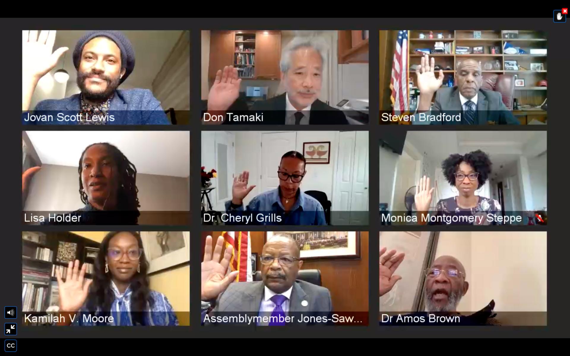 California Reparations commission (Screenshot / AB 3121 Commission)
