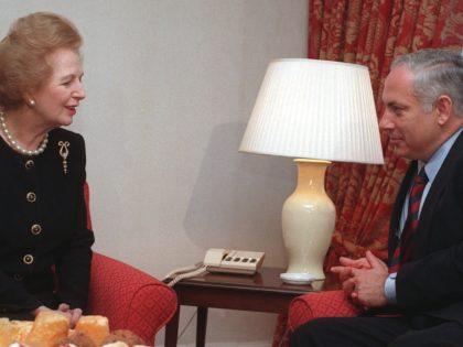 Thatcher and Netanyahu (Alastair Grant / Associated Press)