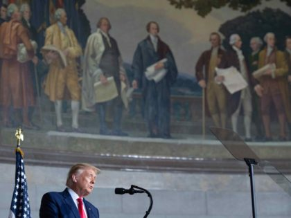 Trump at National Archives (Saul Loeb / AFP / Getty)