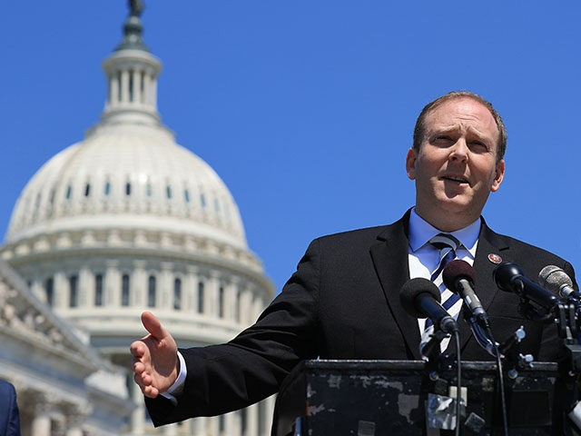 WASHINGTON, DC - MAY 19: House Republican Israel Caucus members, including Co-Chair Rep. Lee Zeldin (R-NY) (C) hold a news conference to talk about the military conflict between Israel and Palestinians in Gaza outside the U.S. Capitol on May 19, 2021 in Washington, DC. Laying blame with President Joe Biden, …