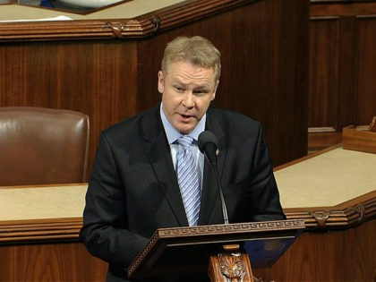 Rep. Warren Davidson, R-Ohio, speaks as the House of Representatives debates the articles of impeachment against President Donald Trump at the Capitol in Washington, Wednesday, Dec. 18, 2019. (House Television via AP)