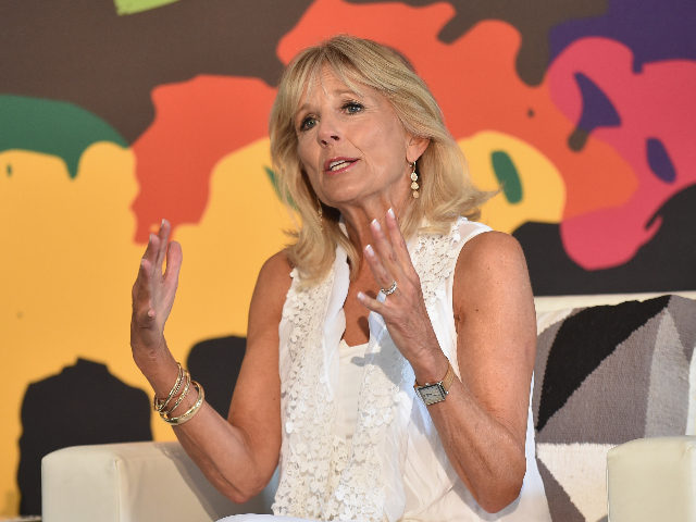 NEW YORK, NY - JULY 22: Former Second Lady of the United States Dr. Jill Biden speaks onstage during OZY FEST 2017 Presented By OZY.com at Rumsey Playfield on July 22, 2017 in New York City. (Photo by Bryan Bedder/Getty Images for Ozy Fusion Fest 2017)