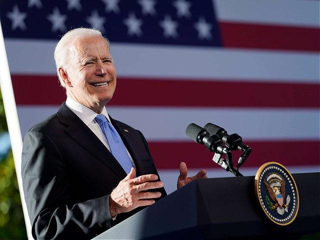 President Joe Biden speaks during a news conference after meeting with Russian President Vladimir Putin, Wednesday, June 16, 2021, in Geneva, Switzerland. (AP Photo/Patrick Semansky)