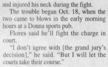 """(""""Donna mayor indicted on charges arising from scuffle,"""" Fort Worth Star-Telegram, 12/31/2000)"""