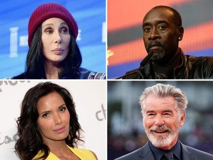 Cher, Don Cheadle, Padma Lakshmi, Pierce Brosnan.