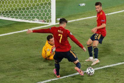 Alvaro Morata was in unconvincing form against Poland despite his opening goal