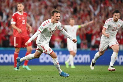 Mikkel Damsgaard set Denmark on their way to victory with the opening goal