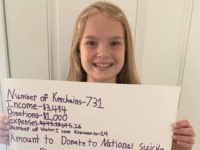 VIDEO: Girl Who Lost Dad to Suicide Raises over $3K for Suicide Prevention