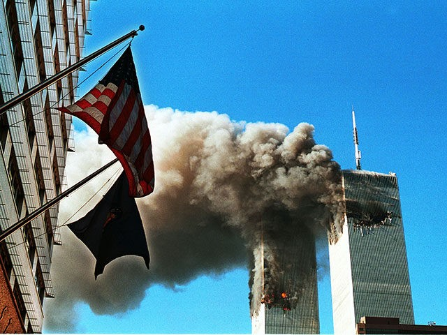 394261 09: Smoke Pours From The World Trade Center After Being Hit By Two Planes September 11, 2001 In New York City. (Photo By Craig Allen/Getty Images)