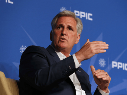 IN this Aug. 15, 2018, file photo, Rep. Kevin McCarthy, R-Calif., answers a question during his appearance with the Public Policy Institute of California in Sacramento, Calif. Frustration and finger-pointing spilled over at a private meeting of House Republicans late Tuesday, Nov. 13 as lawmakers sorted through an election that …