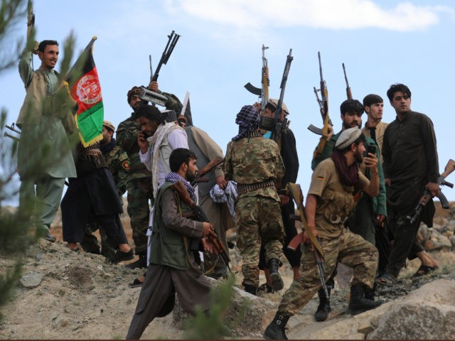 Afghan militiamen join Afghan defense and security forces during a gathering in Kabul, Afghanistan, Wednesday, June 23, 2021. Taliban gains in north Afghanistan, the traditional stronghold of the country's minority ethnic groups who drove the insurgent force from power nearly 20 Â years ago, has driven a worried government to …