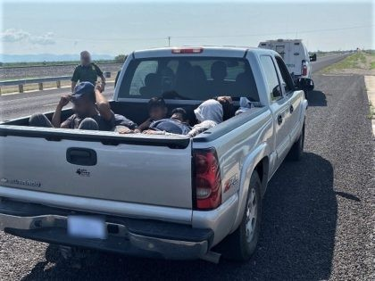 Van Horn Station Border Patrol agents find a group of migrants packed into an overloaded pickup truck. (Photo: U.S. Border Patrol/Big Bend Sector)