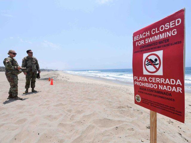 Closed beach (Frederic J. Brown / Getty)