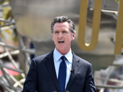 UNIVERSAL CITY, CALIFORNIA - JUNE 15: California Governor Gavin Newsom attends California Governor Gavin Newsom's press conference for the official reopening of the state of California at Universal Studios Hollywood on June 15, 2021 in Universal City, California. (Photo by Alberto E. Rodriguez/Getty Images)