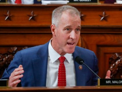 WASHINGTON, DC - NOVEMBER 20: U.S. Rep. Sean Patrick Maloney (D-NY) questions U.S. Ambassador to the European Union Gordon Sondland during a House Intelligence Committee hearing as part of the impeachment inquiry into U.S. President Donald in the Longworth House Office Building on Capitol Hill November 20, 2019 in Washington, …