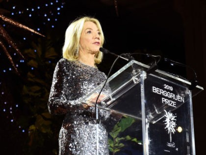 NEW YORK, NEW YORK - DECEMBER 16: Amy Gutmann speaks onstage during the Fourth Annual Berggruen Prize Gala celebrating 2019 Laureate Supreme Court Justice Ruth Bader Ginsburg In New York City on December 16, 2019 in New York City. (Photo by Ilya S. Savenok/Getty Images for Berggruen Institute )