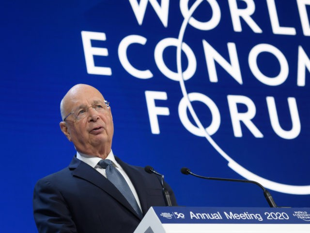 World Economic Forum (WEF) founder and executive chairman Klaus Schwab delivers a speech at the Congress center during the World Economic Forum (WEF) annual meeting in Davos, on January 21, 2020. (Photo by Fabrice COFFRINI / AFP) (Photo by FABRICE COFFRINI/AFP via Getty Images)