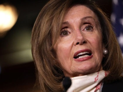 WASHINGTON, DC - MAY 28: U.S. Speaker of the House Rep. Nancy Pelosi (D-CA) speaks during a weekly news conference May 28, 2020 on Capitol Hill in Washington, DC. Speaker Pelosi discussed various topics including the death of George Floyd after being detained by police in Minneapolis, Minnesota, and the …