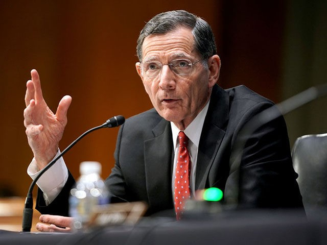 WASHINGTON, DC - MARCH 23: Sen. John Barrasso (R-WY) speaks at the confirmation hearing for Samantha Power, nominee to be Administrator of the U.S. Agency for International Development, before the Senate Foreign Relations Committee on March 23, 2021 on Capitol Hill in Washington, DC. Power previously served as U.S. Ambassador …