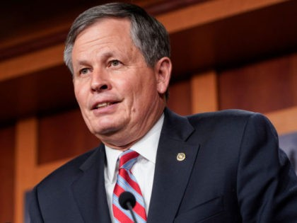 """WASHINGTON, DC - JUNE 17: Senator Steve Daines (R-MT) speaks about his opposition to S. 1, the """"For The People Act"""" on June 17, 2021 in Washington, DC. Republican are calling the proposed legislation, which is intended to expand voting rights and reform campaign finance, a federal take over of …"""