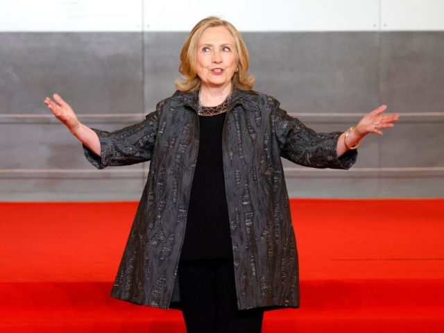 Former US Secretary of State Hillary Clinton arrives to the opening session of the Generation Equality Forum, a global gathering for gender equality convened by UN Women and co-hosted by the governments of Mexico and France in partnership with youth and civil society, in Paris on June 30, 2021. - …