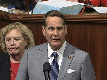 In this image from video, Rep. Maxine Waters, D-Calif., right, listens as Rep. Harley Rouda, D-Calif., speaks as members of the California delegation hold a moment of silence on the floor of the House of Representatives in Washington, Tuesday, Jan. 28, 2020, for former Los Angles Lakers basketball player Kobe …