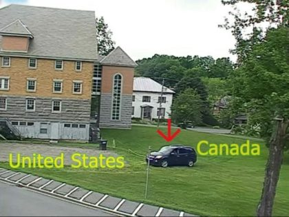 A vehicle carrying seven illegal aliens crossed the Canadian border into Vermont. ()