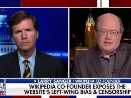 Larry Sanger on Tucker Carlson