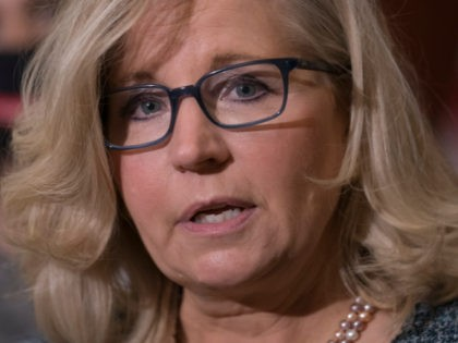 In this photo taken Tuesday, April 20, 2021, House Republican Conference Chair Rep. Liz Cheney, R-Wyo., speaks to reporters following a GOP meeting at the Capitol in Washington. House Minority Leader Kevin McCarthy, R-Calif., has set a Wednesday vote for removing Cheney from her No. 3 Republican leadership post after …