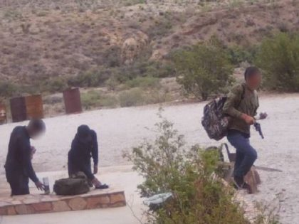 Border Patrol agents arrest three migrants who stole guns, ammo, food, and clothing while burglarizing a rancher's house in West Texas. (Photo: U.S. Border Patrol/Big Bend Sector)