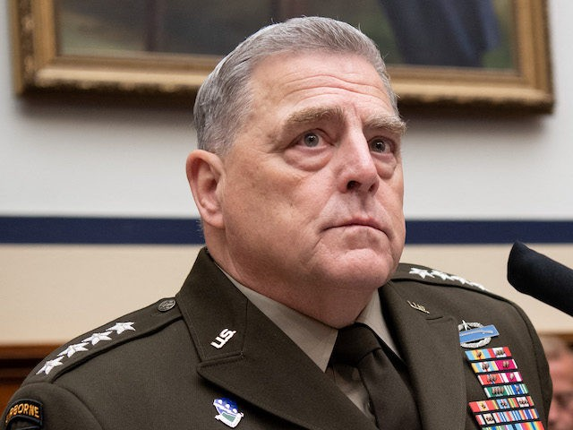 General Mark Milley, Chairman of the Joint Chiefs of Staff, testifies on the department's fiscal year 2022 budget request during a House Armed Services Committee hearing on Capitol Hill in Washington, DC, on June 23, 2021. (Photo by SAUL LOEB / AFP) (Photo by SAUL LOEB/AFP via Getty Images)