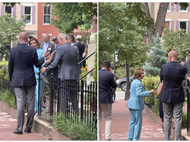 Nancy Pelosi Maskless in Washington, D.C.