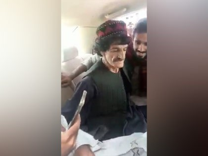 Nazar Mohammad is abducted by Taliban militants and later murdered. Screencap Twitter.com/@bsarwary (Original footage from unnamed Taliban kidnappers)