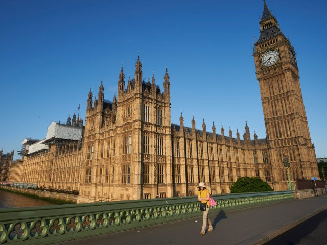 Big Ben and the Houses of Parliament are bathed in morning sunlight in central London on June 24, 2016. Britain has voted to break out of the European Union, striking a thunderous blow against the bloc and spreading panic through world markets Friday as sterling collapsed to a 31-year low. …