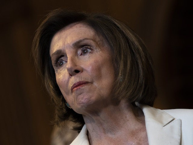 WASHINGTON, DC - JULY 1: Speaker of the House Nancy Pelosi (D-CA) attends a news conference with the Democratic Women's Conference about the care economy, at the U.S. Capitol July 1, 2021 in Washington, DC. Speaker Pelosi has pushed for extending funding for the nations care economy to be included …