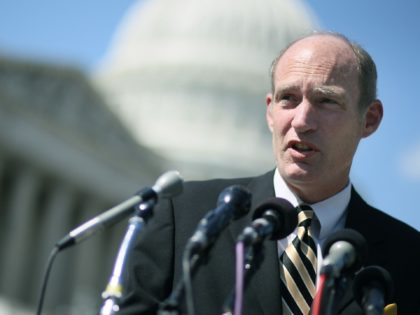 WASHINGTON, DC - SEPTEMBER 12: Republican presidential candidate Rep. Thaddeus McCotter (R-MI) speaks during a news conference on Capitol Hill on September 12, 2011 in Washington, DC. Rep. McCotter held the news conference to unveil a Social Security reform bill he says will restore solvency to the program, without cutting …