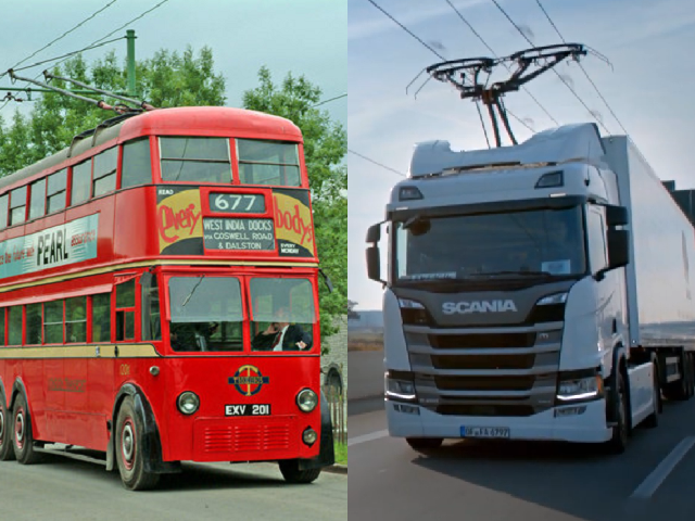 Trolleybus Lorry