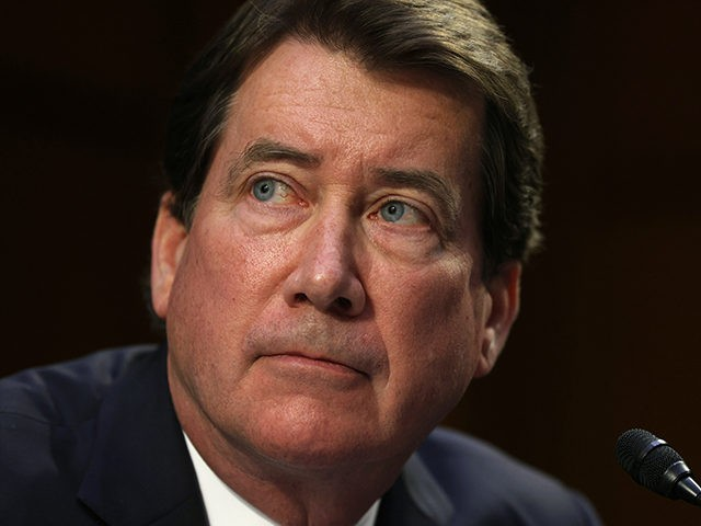 """WASHINGTON, DC - MAY 12: U.S. Sen. Bill Hagerty (R-TN) listens during a hearing before the Senate Appropriations Committee at Hart Senate Office Building on May 12, 2021 on Capitol Hill in Washington, DC. The committee held a hearing on """"Domestic Violent Extremism in America."""" (Photo by Alex Wong/Getty Images)"""