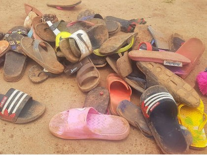 Shoes of abducted boarding school students lie on the floor after 140 boarding students of Bethel Baptist School were kidnapped by gunmen in Kaduna, northwestern Nigeria, on July 5, 2021. - Gunmen kidnapped 140 students from a boarding school in northwestern Nigeria on July 5, 2021, a school official said, …