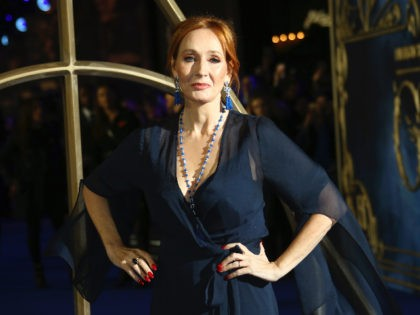 Author J.K. Rowling poses for photographers upon arrival at the premiere of the film 'Fantastic Beasts: The Crimes of Grindelwald', at a central London cinema, Tuesday, Nov. 13, 2018. (Photo by Joel C Ryan/Invision/AP)