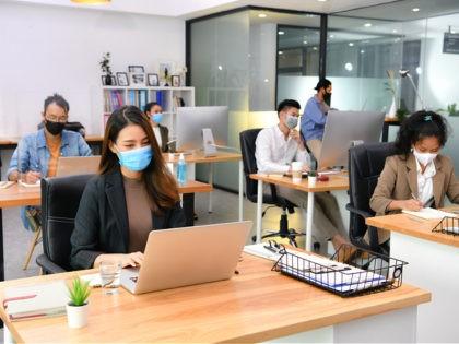 white-collar office setting