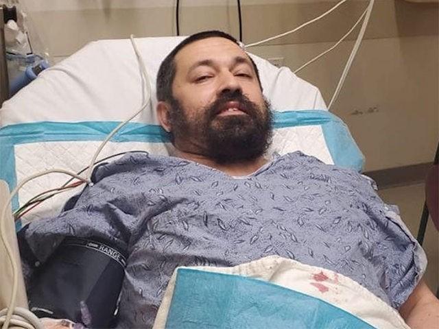 Rabbi Shlomo Noginski in a hospital, July 1, 2021.