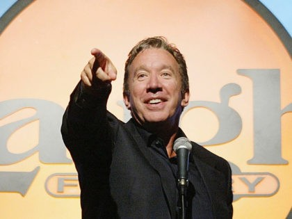 LOS ANGELES, CA - OCTOBER 13: Actor and comedian Tim Allen performs at the YMCA?s 36th Annual Comedy Booster Event at the Laugh Factory on October 13, 2003 in Los Angeles, California. (Photo by Carlo Allegri/Getty Images)