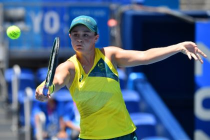 Australia's Ashleigh Barty in action at the Tokyo Olympics