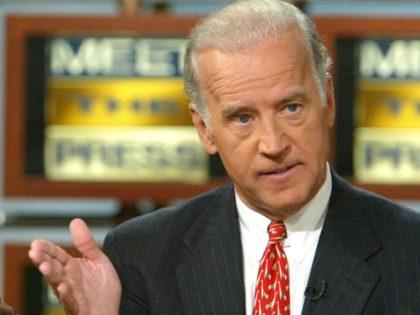 WASHINGTON - OCTOBER 12: U.S. Senator Joseph Biden (D-DE) (R) gestures as he speaks while Senator Dick Lugar (R-IN) listens on NBC's 'Meet the Press' during a taping at the NBC studios October 12, 2003 in Washington, DC. Both Chairman Lugar and ranking member Biden of the Senate Foreign Relations …